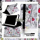 """For Various 7"""" 8"""" 10"""" Fusion5 Tablet - FOLIO LEATHER STAND CASE COVER + Stylus"""