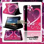 """For Various 10"""" Huawei MediaPad Tablet - FOLIO LEATHER STAND CASE COVER + Stylus"""