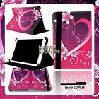 """For Various 7"""" 8"""" 10"""" RCA Tablet - FOLIO LEATHER STAND CASE COVER + Stylus"""