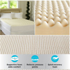 egg crate mattress pads - Memory Foam Mattress Topper Sleep Convoluted Pad Bed Cover Egg Crate Room 3 Inch