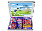 GOLFER DAD Personalised FATHERS DAY Gift Hampers Chocolate or Retro Sweets Daddy