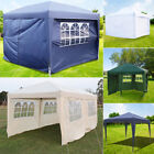 2.5x2.5m 3x6m Pop Up Gazebo Marquee Outdoor Party Tent Canopy 4 Sides Waterproof