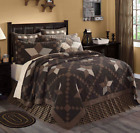 FARMHOUSE STAR QUILT SET-choose size & accessories-Black/Khaki Check VHC Brands image