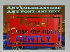 """PLEASE CLOSE THE DOOR GENTLY"" sticker decal MAGNETIC sign UBER LYFT taxi car for sale  Shipping to Canada"