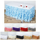 Enchanting Curly Willow Taffeta Table Skirt Wedding Decoration Table Covers $73.69 USD on eBay