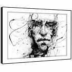 AB193 Black White Face Cool Modern Abstract Framed Wall Art Large Picture Prints