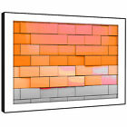 AB690 Orange Grey Cool Funky Modern Abstract Framed Wall Art Large Picture Print