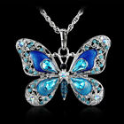 Opal Bijoux Gift New Long Pendant Holiday Butterfly Jewelry Fashion Necklace