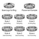 Western Illinois Hunting and Fishing Rings | Stainless Steel 8mm Wide
