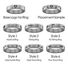 West Chester Golden Rams Hunting and Fishing Rings | Stainless Steel 8mm Wide