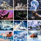 Внешний вид - Wolf Animals DIY Acrylic Paint By Number Kit Oil Painting Canvas Art Decor Horse