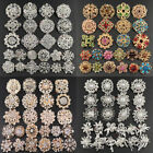 24pc Brooch Lot Mixed Alloy Rhinestone Crystal Pearl Pin Wedding Bouquet DIY Kit image