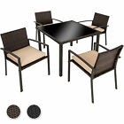 6+1 Seater Table Poly Rattan Garden Furniture Chairs Set Outdoor Patio Wicker