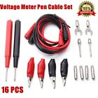 16pcs Kit Universal Multifunction Test Lead Set Digital Multimeter Probe Cable