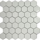 "White 2"" Hexagon Porcelain Mosaic Tile Wall Sink Kitchen Backsplash Faucet"