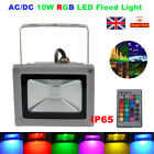 10W RGB LED Flood Light Outdoor Garden Landscape Security Lamp Remote IP65 DC/AC