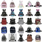 Women Girls Handbag Sequins Glitter Backpack Rucksack Travel Shoulder School Bag