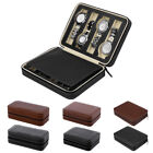 Portable 2/4/8 Grids Travel Wrist Watch Box Leather Storage Case Gift Organizer