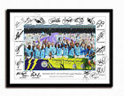 MAN CITY SIGNED PRINT PHOTO POSTER SQUAD 2017 2018 TEAM MANCHESTER CHAMPIONS