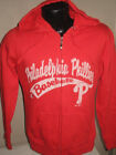 MLB Philadelphia Phillies Baseball Full Zip Sweatshirt Jacket Women Majestic Red on Ebay