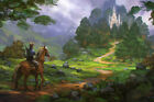 """Zelda Switch Video Game 24"""" x 16"""" Large Wall Poster Art Print Gift Decor"""