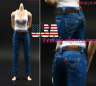 Внешний вид - 1/6 Female Tank Top Vest Skinny Jeans Pants Set For Phicen Hot Toys Figure ❶USA❶