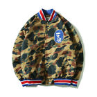 bape baseball jacket - BAPE A Bathing Ape Jacket Casual Camo Unisex Baseball Uniform Coat Jacket
