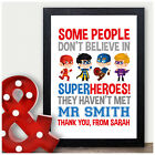 Personalised Super Hero Teacher Thank You Gifts for Male Teachers Head Teacher