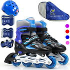 HOT GIFTS Inline Roller Skates for Kids Free Helmet & Knee Pads Set  Adjustable