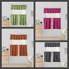 Внешний вид - Short Blackout Window Curtain Rod Pocket Valance Tier Panels 3 Piece Set K4