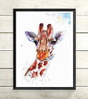 NEW,Giraffe,Sale,Original ,Watercolour,Print ,Card, Gift,Wildlife,Animal,Art,