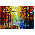 Leonid Afremov Tree Forest Grove Art Wall Paint Canvas Mural No-frame Decor Home