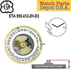 Genuine ETA 955.412-XX Swiss Made Quartz Movement, 2 Hands and 3 Hands - NEW! image