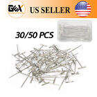 "Купить GEX 30/50PCS T-Pins 2"" Straight Needles Set Knitting Sewing Craft  Macrame Wigs"