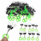 100Pcs/Set Silicone Space Bean Line Stopper Fishing Bait Accessory Pesca Tackle