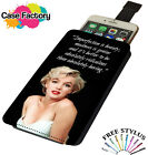 Marilyn Monroe Imperfection Is Beauty - Universal Leather Phone Case Cover