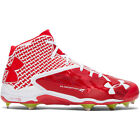 New Under Armour Deception DT Mid DiamondTips Metal Mens Baseball Cleats Red