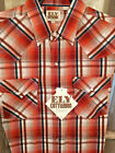Ely Cattleman Men's Western Shirt Long Sleeve RED Plaid Easy Care