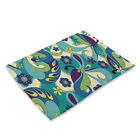 Geometric Pattern Insulation Cotton Linen Placemat Dining Table Mat Home Kitchen