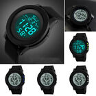 Men's Digital Sports Watch LED Screen Large Face Military Waterproof Watches #M