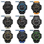 SMAEL Men's Watches Dual Time Camouflage Sport Watch Army LED Digital Watch image
