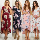 US Pregnant Women Long Maxi Dresses Floral Maternity Gown Photography Clothes