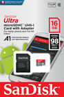 SanDisk Ultra 16GB 32GB 64GB 128GB Micro SD C10 SDHC SDXC Flash Memory TF Card
