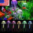 Hot Sale! Silicone Jellyfish Aquarium Decor Artificial Glowing Effect Fish Tank