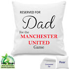 "Personalised Manchester United Football Fan Cotton Cushion Dad, ANY Name 18""x18"""