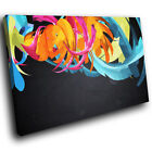 AB1101 Blue black pink Modern Retro Abstract Canvas Wall Art Large Picture Print