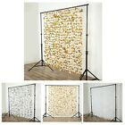 6 Ft X 6 Ft Flower Garland Backdrop Curtain For Wedding Decoration - 3 Colors