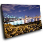 SC020 Brooklyn Bridge New York Landscape Canvas Wall Art Large Picture Prints