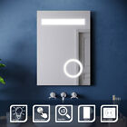 Led Illuminated Bathroom Wall Mirror Demister / Shaver / Touch /swith - Option