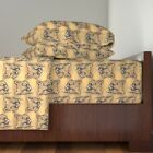 Wild Cat Wood Zoo Cougar Mountain Lion Cat Cotton Sateen Sheet Set by Roostery